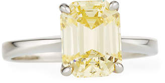 FANTASIA Emerald-Cut Canary Solitaire Ring, Sizes 6-7
