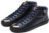 Ocean Pacific OPP Designer Men's Casual Leather Sneaker Lace Up Stylish Zipper Decor High Top Shoes