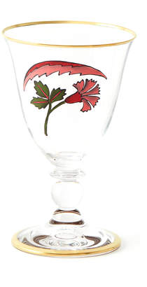 CABANA Lisa Painted Gold-Trim Red Wine Glass
