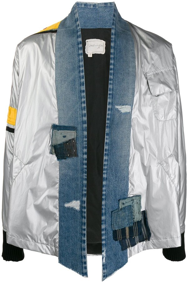 Greg Lauren Denim-Trimmed Shirt Jacket