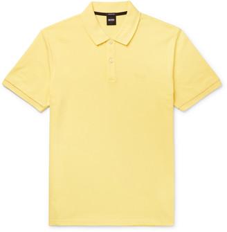 HUGO BOSS Pallas Slim-Fit Cotton-Pique Polo Shirt