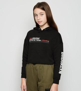 New Look Girls Brooklyn Slogan Hoodie