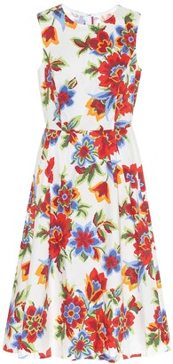 Carolina Herrera Floral stretch-cotton midi dress