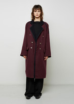MM6 MAISON MARGIELA Double Breasted Wool Coat