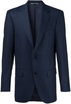 Canali plaid notched lapel blazer