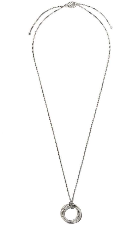 David Yurman Crossover diamond pendant necklace