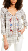 Johnny Was Angelique Eyelet Peasant Blouse