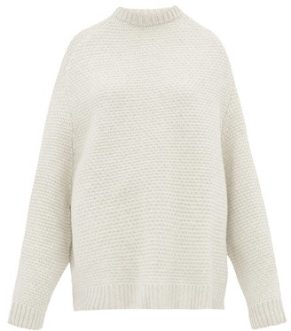 Raey Crew-neck Basketweave Wool Sweater - Ivory