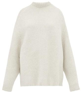 Raey Crew-neck Basketweave Wool Sweater - Womens - Ivory