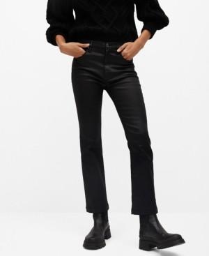 MANGO Women's Coated Bootcut Flare Jeans