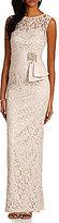 Eliza J Illusion Lace Column Gown