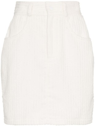 Michael Lo Sordo corduroy fitted cotton mini skirt
