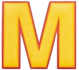 "Anya Hindmarch Capra Leather Oversized ""M"" Sticker"