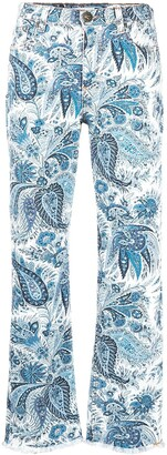 Etro High-Rise Paisley-Print Flared Trousers