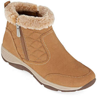 Easy Spirit Womens Vance2-J Water Resistant Winter Boots Flat Heel