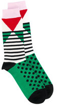 Henrik Vibskov geometric patterned socks - unisex - Cotton/Nylon/Spandex/Elastane - One Size