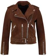 AllSaints SUEDE BALFERN BIKER Leather jacket brown