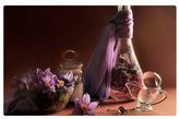 """bitt iRocket Indoor Floor Rug/Mat - Purple FLowers (23.6"""" x 15.7"""", 60cm x 40cm)"""