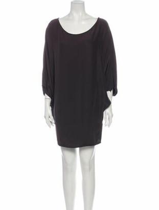 Nili Lotan Silk Mini Dress Brown