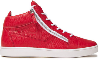 Giuseppe Zanotti Pebbled-leather High-top Sneakers