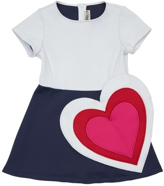 Simonetta Jersey Double Stretch Dress W/ Heart