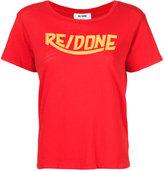RE/DONE logo print T-shirt - women - Cotton - M