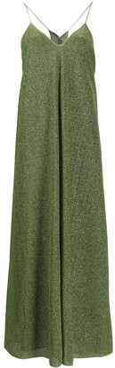 Oseree Metallic Flared Dress