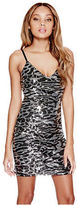 G by Guess GByGUESS Women's Ranji Cheetah-Print Sequin Dress