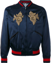 Gucci embroidered bomber jacket - men - Silk - 48