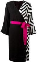 Diesel zig-zag detail wrap dress - women - Viscose/Wool - S