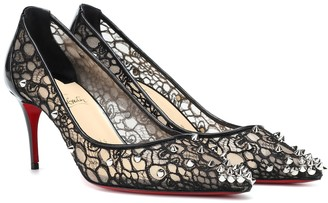 Christian Louboutin Lace 554 70 spiked pumps
