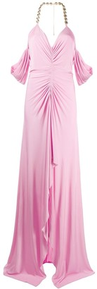 Blumarine Crystal Accent Evening Gown