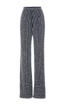Naeem Khan Embellished Wide Leg Trousers