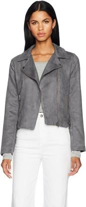 BB Dakota Women's Johanness Woven Faux Suede Jacket