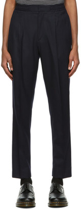 Officine Generale Navy Wool Drew Trousers