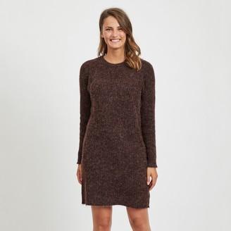 Vila Short Shift Jumper Dress with Long Sleeves