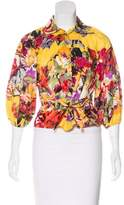 Etro Floral Print Button-Up Top