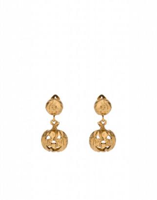 Moschino Pumpkin Earrings Woman Gold Size U It - (one Size Us)