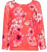 Wallis Petite Floral Long Sleeve Top