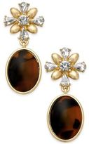 Charter Club Gold-Tone & Tortoise-Look Drop Earrings, Created for Macy's