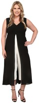 Adrianna Papell Plus Size Color Blocked Overlay Jumpsuit