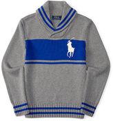 Ralph Lauren Combed Cotton Shawl Sweater