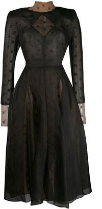 Fendi double-layered organza dress