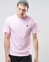 Huf T-shirt With Small Rose Logo