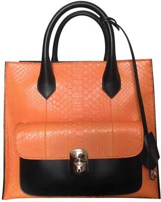 Balenciaga Padlock Orange Python Handbags