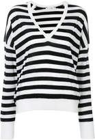 Rag & Bone striped v-neck jumper