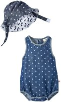 Appaman Star Sunsuit And Sun Hat Set (Baby) - Blue Depths - 6-12 Months