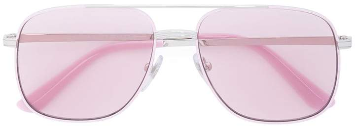 Vogue pink and silver aviators
