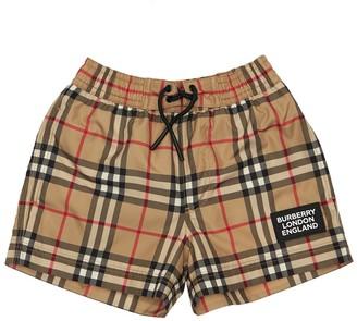 Burberry Check Nylon Swim Shorts