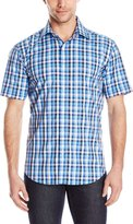 Bugatchi Men's Tivoli Short Sleeve Shaped Button Down Shirt